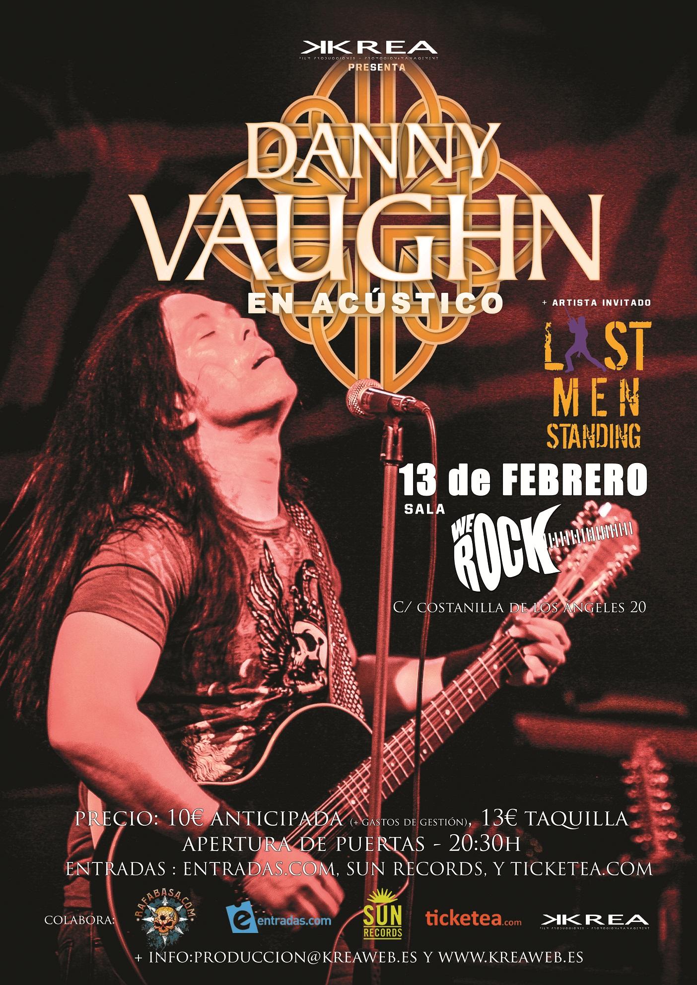 Concierto acústico de Danny Vaughn en Madrid